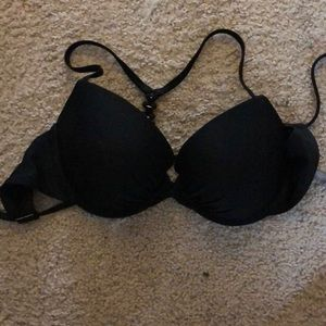 Aerie black push up padded swim suit top